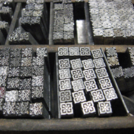 Movable type--century-old borders.